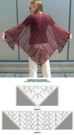Exceptional Stitches Make a Crochet Hat Ideas. Extraordinary Stitches Make a Crochet Hat Ideas. Poncho Knitting Patterns, Shawl Patterns, Crochet Poncho, Knitted Shawls, Lace Knitting, Knitting Stitches, Crochet Lace, Lace Shawls, Crochet Patterns