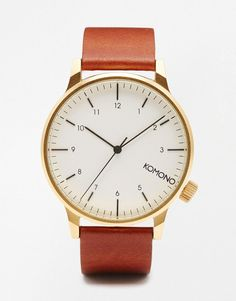 Komono | Komono Winston Watch In Brown at ASOS