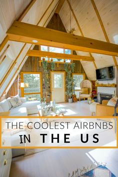 Looking to discover the coolest and most unique Airbnbs in the US? From treehouses and cabins to other unique and quirky accommodations embodying the locale, there are so many cool ways to spend a weekend getaway in America. Spend a few nights in a majestic castle on a lake or a retro guesthouse in the middle of nowhere. For the summer and fall, here are the 19 coolest Airbnbs in the US to visit in 2020. #Airbnb #UniqueAirbnbs #CoolestAirbnbs #USATravel #AmericaTravel #USVacation Romantic Cabin Getaway, Getaway Cabins, Unique Hotels, Best Hotels, Lets Run Away Together, Luxury Couple, Treehouse Hotel, Summer Cabins, Overwater Bungalows