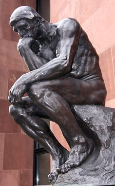 Auguste Rodin - the thinker Auguste Rodin, What Is Sculpture, Rodin The Thinker, Famous Art Pieces, Antoine Bourdelle, Famous Sculptures, Art Nouveau Furniture, Aesthetic Painting, Sacred Art