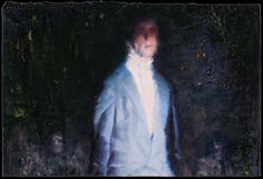 attila szucs, the rehearsal, oil on canvas mounted on board, 28,5x42,5cm. 2013
