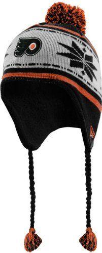 042aec64126 New Era Philadelphia Flyers Youth Black Striped Snowflake Tassel Beanie by New  Era.  17.99.