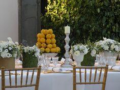 Lemon rustic elegant  Table setting ideas  www.guidilenci.com