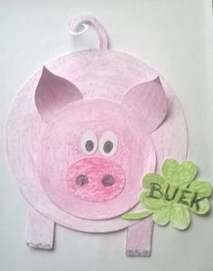 Toy Story Crafts, Pig Crafts, New Year's Crafts, Book Crafts, Hobbies And Crafts, Preschool Crafts, Diy And Crafts, Paper Crafts, Animal Art Projects