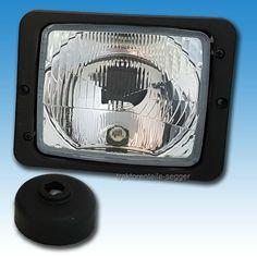 2x Scheinwerfer Fernlicht Abblendlicht H4 Traktor Fendt IHC Zetor mit Stecker