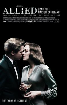 Starring Brad Pitt, Marion Cotillard | Directed by Robert Zemeckis | Action, Drama, Romance | Allied (2016)