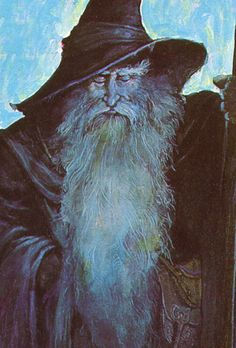 WIZARD! IT'S MY IDEA OF GOD EXCEPT HUGE N ALL POWERFUL N WHITER WITH LIGHT ABOUT HIM AS IF FIRE