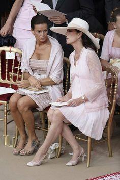 Royal Sisters... Princess Stéphanie of Monaco with her sister Princess Caroline of Hanover