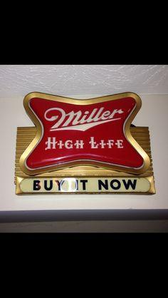 Antique Miller High Life Beer Wall Clock Sign Vintage 1950