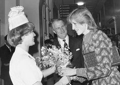 December 8, 1982: Princess Diana on her first solo engagement at the Royal…