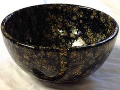 "A 3"" x 6"" Beautiful Hand Painted Yarn bowl-READY TO SHIP"