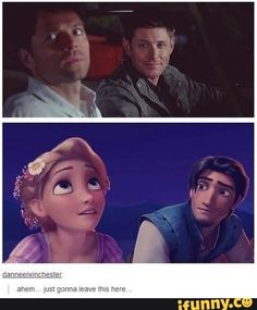 Wait isn't Dean supposed to be Rapunzel