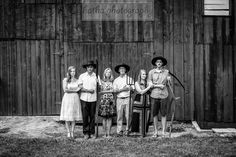 The New American Gothic  #wedding #barn #barnwedding #americangothic #family