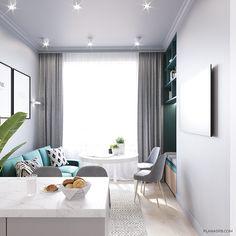 Image may contain: table and indoor Studio Apartment Layout, Small Apartment Design, Condo Design, Home Design Decor, House Design, Interior Design, Small Condo Living, Living Room Modern, Home Living Room