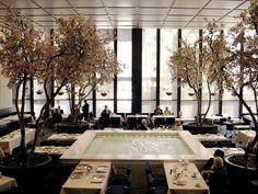 """Four Season"". Seagram Building's interiors were designed in 1959 by Philip Johnson"