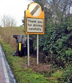 'Oh the irony!' Click to see, 12 Hilarious Road Signs You Won't Believe Existed! #lol #funny #spon