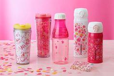 スタバ 桜の「満開」をイメージしたデザインのタンブラーやボトル
