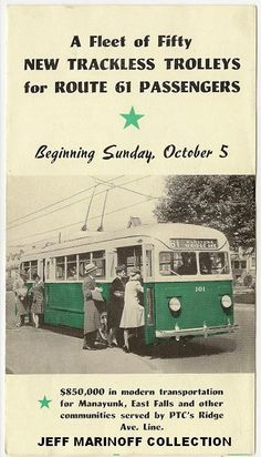 SEPTA   The History of Philadelphia's Trackless Trolleys