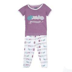 KicKee Pants Short Sleeve Girls Pajama Set, Little Kittens Lost Mittens