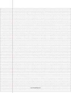 Paper with lines for writing