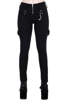 Women's Bottoms | Jeans, Leggings, Skirts & Shorts | Killstar Glam Rock, 70s Fashion, Fashion Pants, Fashion Black, Fashion Sandals, African Fashion, Fashion Outfits, Black Trousers, Black Jeans