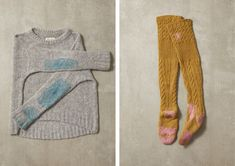 We asked the textile artist Celia Pym to mend a family of TOAST sweaters. Old Sweater, Wool Sweaters, Jumper, Visible Mending, Make Do And Mend, Darning, Textile Artists, Fashion Story, Yarn Colors