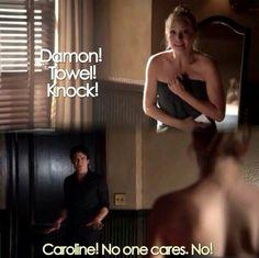 season 6 damon and Caroline