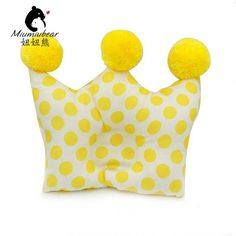 2016 Baby Cartoon Girls Shaping Pillow 0-6months Newborn Cotton Baby Pillow Crown Pillow Free shipping
