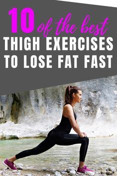 Discover how to lose weight fast in your thighs with these tips and tricks plus the best exercises to help tighten and tone your legs. #weightloss
