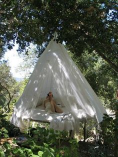 Patio Wonderful Outdoor Hanging Bed Swing Patio Canopy Bed Camping Tent Ideas Trampoline Bed Round Shape Patio And Backyard Furniture Outdoor Hanging Beds Canopy Outdoor, Outdoor Decor, Outdoor Bedroom, Hammock Bed, Swing Beds, Backyard Trampoline, Trampoline Ideas, Backyard Camping, Floating Bed