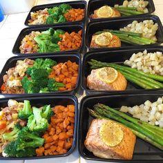 Meal prep! Lunch: 4oz baked salmon, asparagus, 2.5 oz potatoes. Breakfast: egg sausage pepper scramble, broccoli, 3oz sweet potatoes. #mealprep #mealpreps #motivation #mealprepping #mealprepsunday #fit #food #fitfam #fitfood #fitness #fitnessaddict #fitnessmotivation #fitspiration #homecooking #cooking #weightlossmotivation #motivation #bbg #bbggirls #bbgcommunity #kaylasarmy #kaylaitsines #whole30 #weightloss #homecooking #paleo #wholefoods #instafood #portioncontrol #healthy #healthyfood…