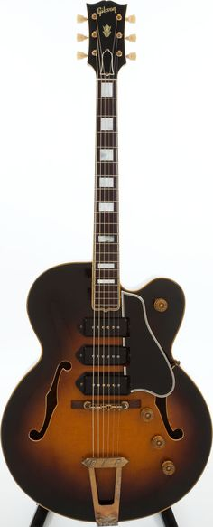 1952 Gibson Sunburst Archtop Electric Guitar, Serial # A Extremely clean example that appears to have barely - Available at 2013 April 20 Musical. Bass Guitar Chords, Jazz Guitar, Music Guitar, Cool Guitar, Gibson Electric Guitar, Cool Electric Guitars, Gibson Guitars, Gretsch, Fender Stratocaster