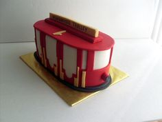 Daniel Tiger's Trolley Birthday Cake