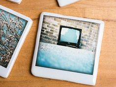 Polaroid Coaster -Keep your table tops dry and cool with these creative coasters.