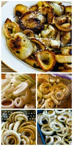 Marinated and Roasted Vidalia Onion Rings with Parmesan