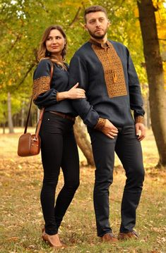 Buy a set of traditional national Ukrainian embroidery for a couple Embroidery Fashion, Embroidery Dress, Kurta Designs, Blouse Designs, Dad Outfit, Gents Kurta, Formal Dresses For Men, Matching Couple Outfits, Mode Hijab