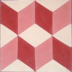 Geometric Red Encaustic Tile.