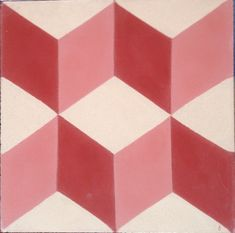 Geometric Red Encaustic Tile.