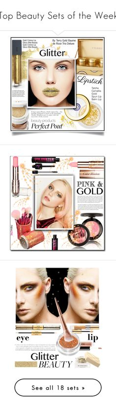 """""""Top Beauty Sets of the Week"""" by polyvore ❤ liked on Polyvore featuring beauty, Tatcha, By Terry, Tom Ford, Bite, glitterlips, MAC Cosmetics, Yves Saint Laurent, tarte and Burberry"""