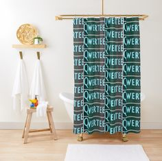 Fits most standard size tubs and showers @curtaintracks #curtain #qwertee Home Decor Items, Tubs, Showers, Neon, Curtains, Bathtubs, Blinds, Soaking Tubs, Neon Colors