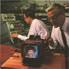 1965, Bell engineers working on the Picturephone