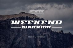 Weekend Warrior Sans Serif Font by themesmile on @creativemarket