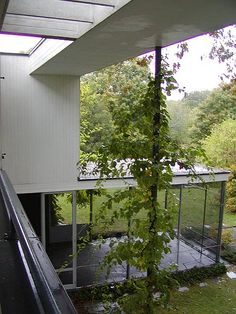 The Walter Gropius House in Lincoln, Massachusetts: Screen Porch at the Gropius House