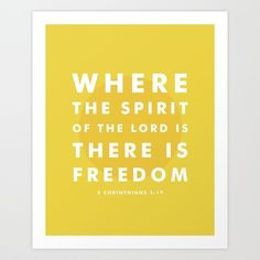 There Is Freedom Art Print by Typographic Verses - $17.00