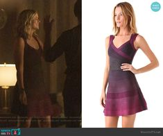 Beck's purple ombre dress on YOU Elizabeth Lail, Purple Ombre, Herve Leger, Line, Fashion Outfits, Clothes, Dresses, Style, Supernatural