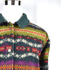 Quilted lining. The entire jacket is in excellent hardly worn condition with no holes, tears, stains, or odors present! Mens Patagonia Fleece, Mens Fleece, Indian M, Spring Jackets, Vintage Men, Aztec, Statement Jackets, Men Sweater, Retro
