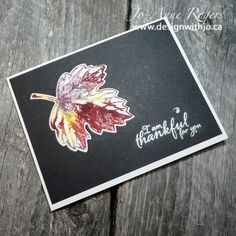 These are Easy Watercolour Leaf Cards full of fall colour!