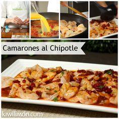 Receta de Camarones con Salsa de Chipotle, Naranja y Miel