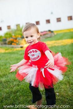 OSU Buckeyes Poofy tutu - Ohio State - football basketball cheerleader - attached ribbon bow - baby toddler girl 2 4 6 8. $23.95, via Etsy.