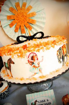 A charming CAKE at a Vintage Parisian Circus Party via Kara's Party Ideas